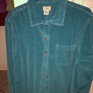 Women's LL Bean Corduroy Shirt/Jacket Size 1X